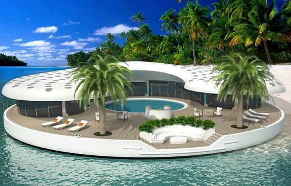 perierga.gr - Πλωτές βίλες-νησάκια στο Ντουμπάι!