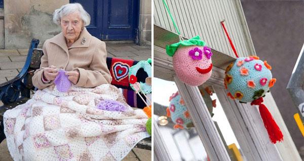 perierga.gr - 104 ετών γιαγιά είναι η γηραιότερη καλλιτέχνις του δρόμου!