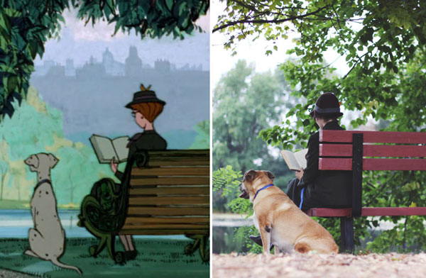 "perierga.gr - Ζευγάρι αναπαριστά σκηνές από την ταινία ""Τα 101 σκυλιά της Δαλματίας"""