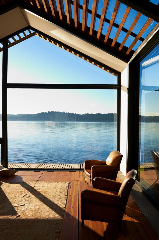 perierga.gr - Εγκαταλειμμένο γκαράζ έγινε πανέμορφο σπίτι στη λίμνη!
