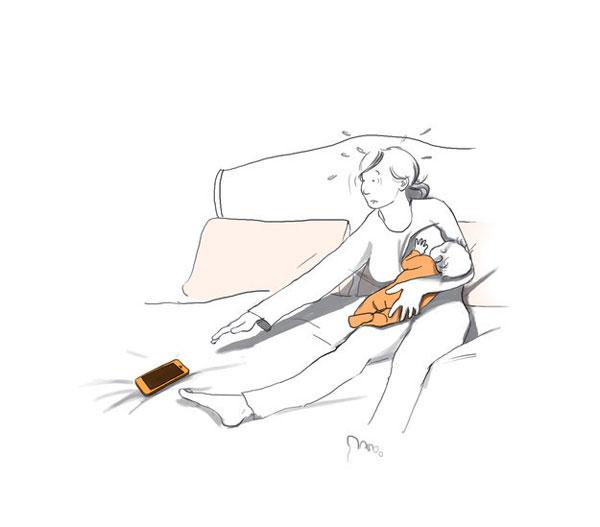 perierga.gr - Η ζωή μιας νέας μαμάς σε σκίτσα!