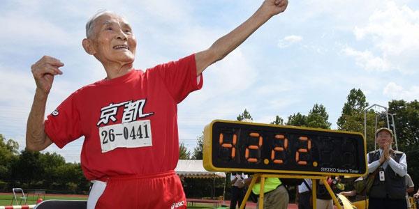 perierga.gr - Αιωνόβιος σπριντερ ετών 105!