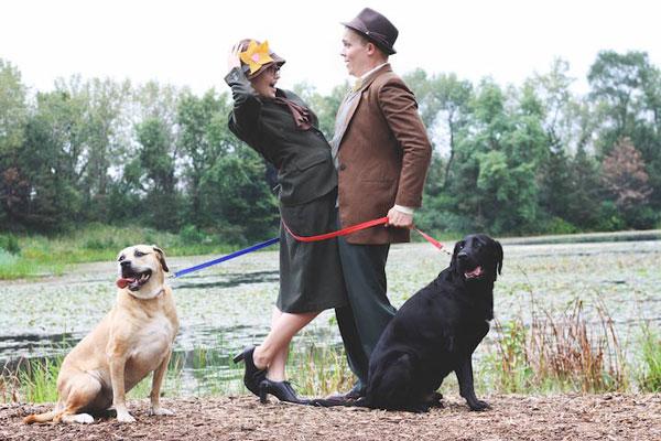 """Ζευγάρι αναπαριστά σκηνές από την ταινία """"Τα 101 σκυλιά της Δαλματίας"""""""