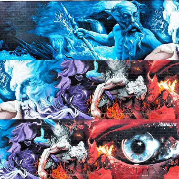 perierga.gr - Τοιχογραφία 150 μέτρων με σκηνές από την ελληνική Μυθολογία!