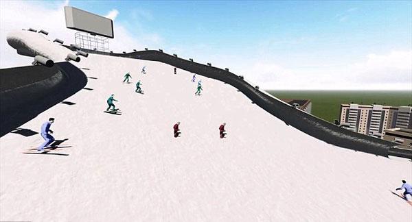 perierga.gr - Ασανσέρ ή σκάλες; Καλύτερα σκι από την ταράτσα!