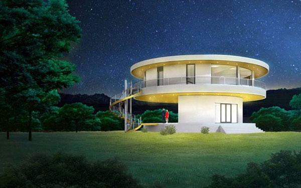 perierga.gr - «Πράσινο» σπίτι περιστρέφεται ακολουθώντας τον ήλιο!