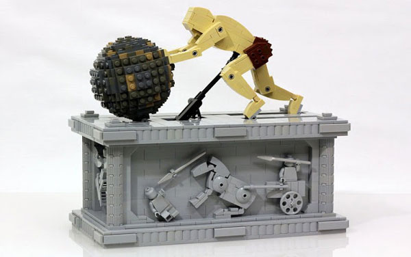 perierga.gr - Κινούμενο γλυπτό του Σίσυφου από LEGO!