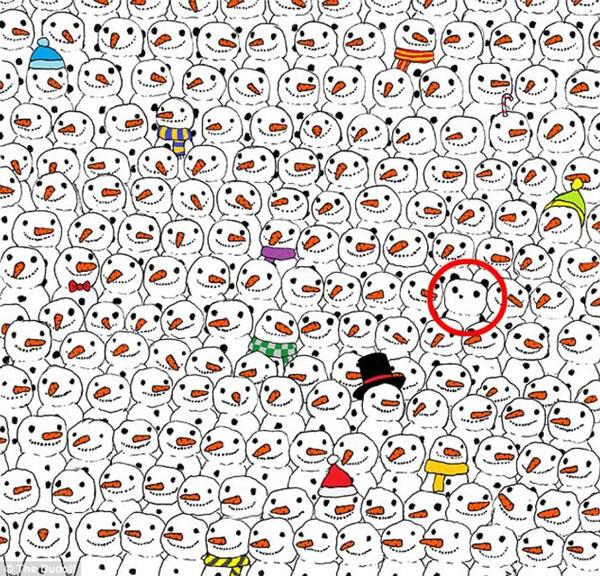 perierga.gr - Βρείτε το πάντα ανάμεσα στους χιονάνθρωπους!