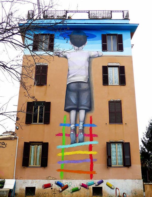 perierga.gr - Kαλλιτέχνης του δρόμου μεταμορφώνει κτήρια σε όλον τον κόσμο!