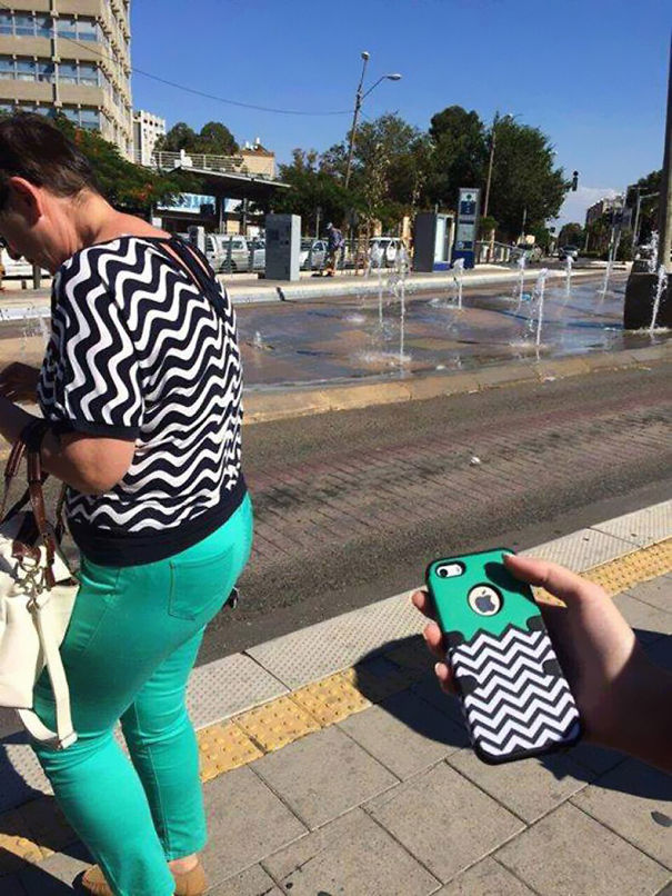 perierga.gr - Άνθρωποι που τυχαία ντύθηκαν σαν το... περιβάλλον τους!