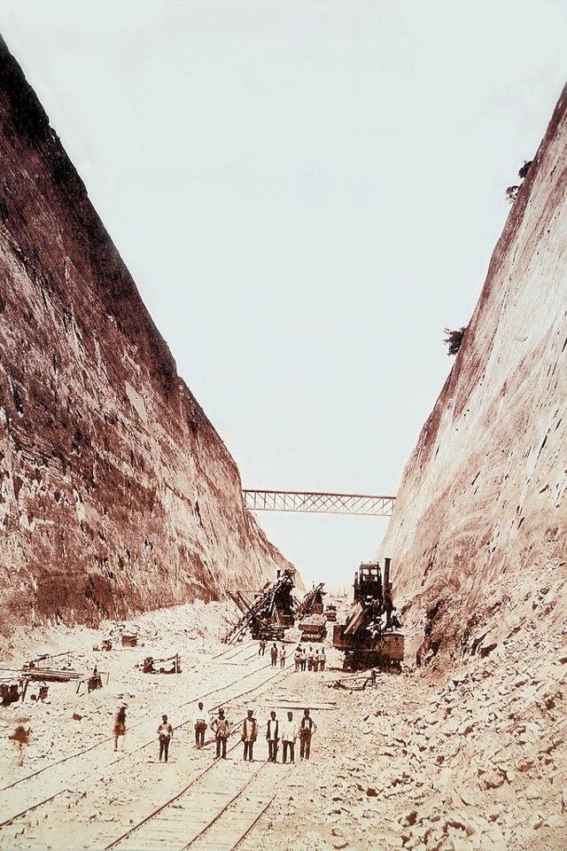 perierga.gr - Σπάνιες φωτογραφίες από τη διάνοιξη της διώρυγας της Κορίνθου!