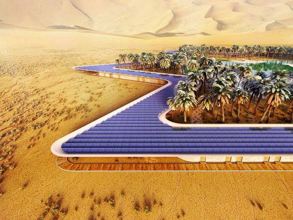 "perierga.gr - Μια ""πράσινη"" όαση στη μέση της ερήμου!"