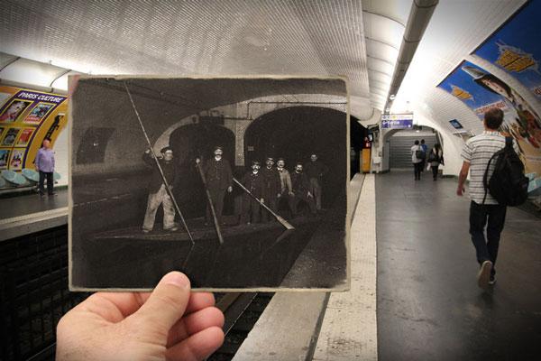 perierga.gr - Παλιές & νέες φωτογραφίες του Παρισιού σε μία εικόνα!
