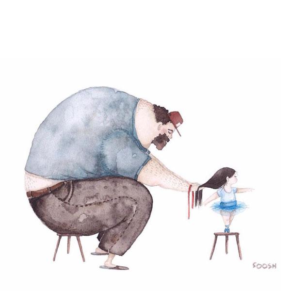 perierga.gr - 9 αξιολάτρευτα σκίτσα που δείχνουν την τρυφερή σχέση πατέρα & κόρης!