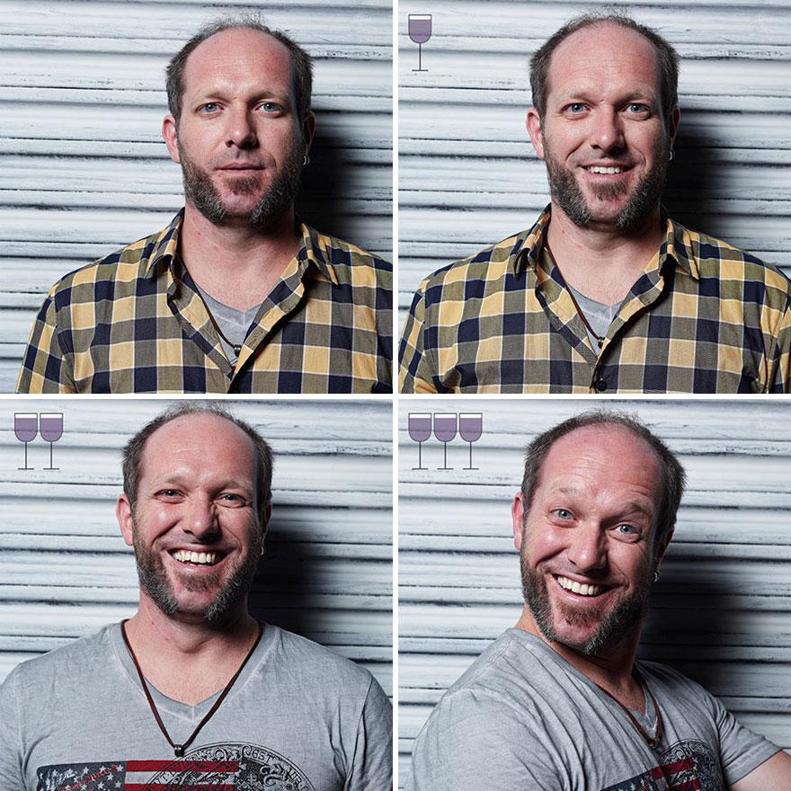 perierga.gr - Πώς μοιάζουν οι άνθρωποι μετά από 1, 2, 3 ποτήρι κρασί!