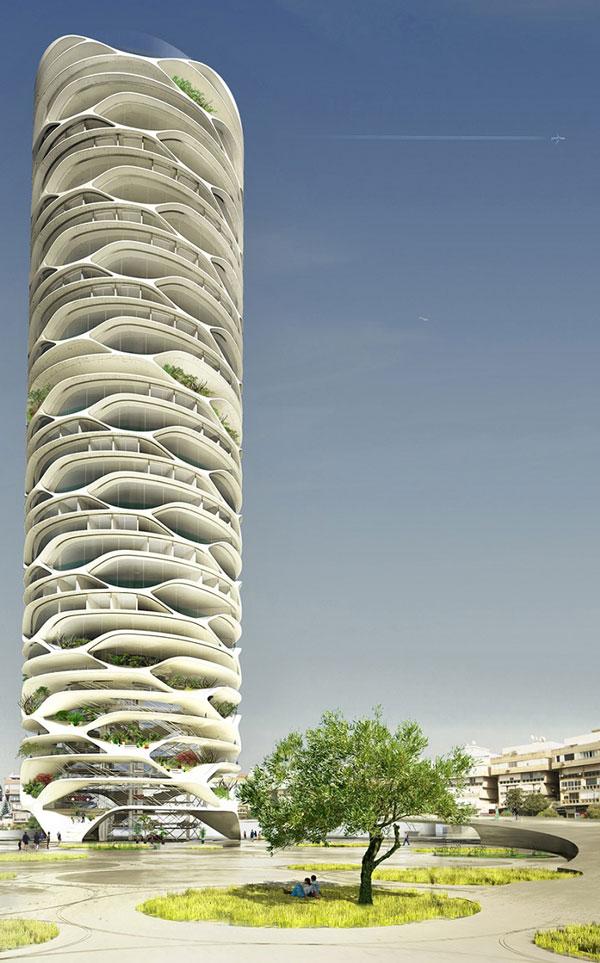 perierga.gr - Φουτουριστικός ουρανοξύστης προετοιμάζεται στο Τελ Αβίβ!