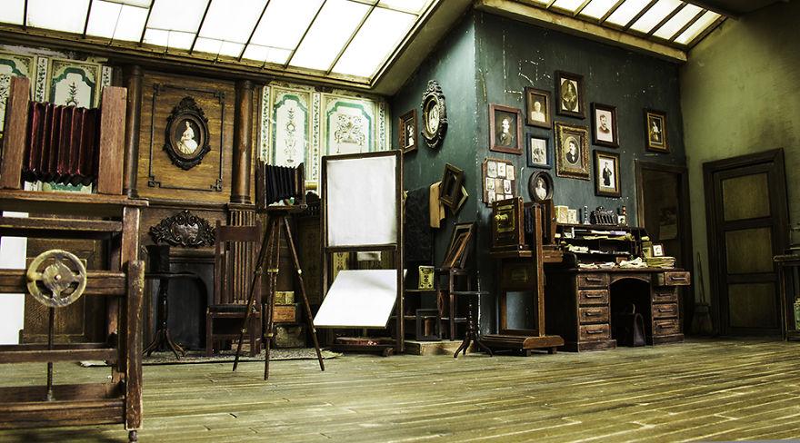perierga.gr - Φωτογραφικό στούντιο-μινιατούρα του 1900!