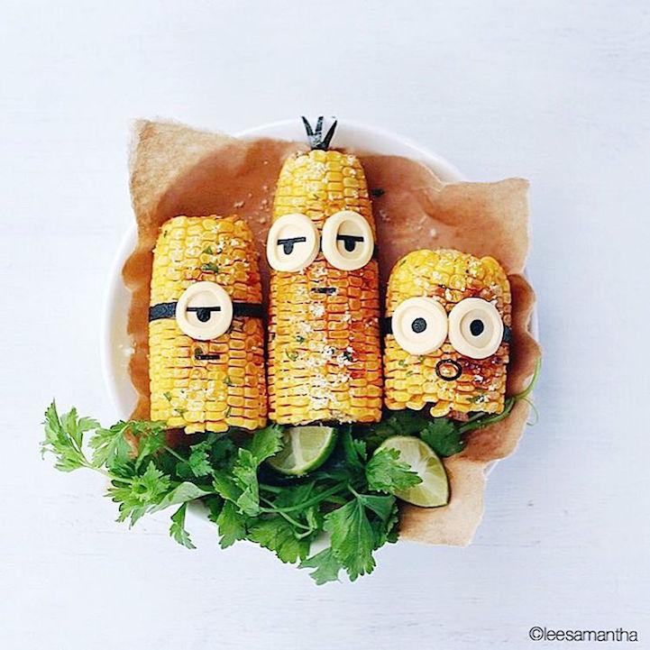 perierga.gr - Μαμά μετατρέπει το φαγητών των κοριτσιών της σε τέχνη!