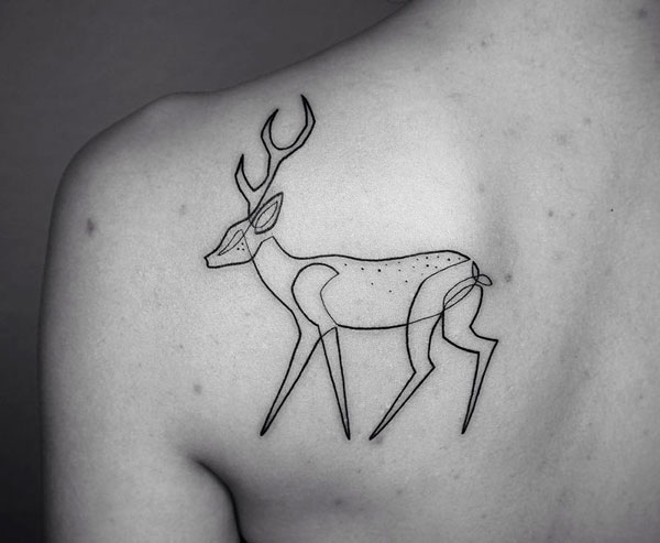 perierga.gr - 15 μινιμαλιστικά τατουάζ που σχεδιάστηκαν με μία μόνο συνεχή γραμμή!