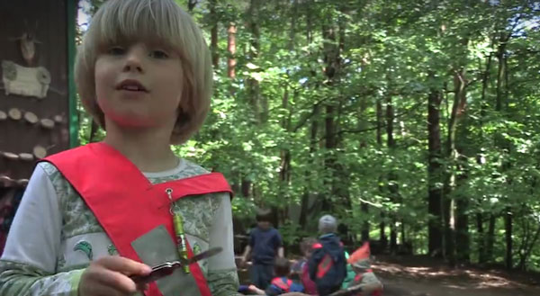 perierga.gr - Νηπιαγωγείο στο... δάσος!