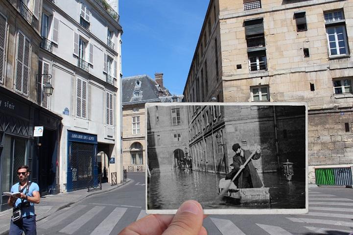 perierga.gr - Η μεγάλη πλημμύρα του Παρισιού το 1910 και σήμερα!
