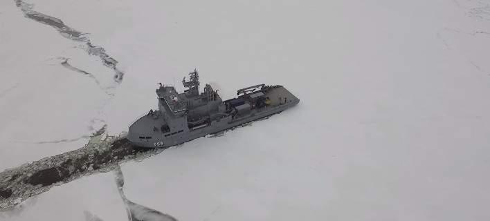 perierga.gr - Drone ακολουθεί παγοθραυστικό!