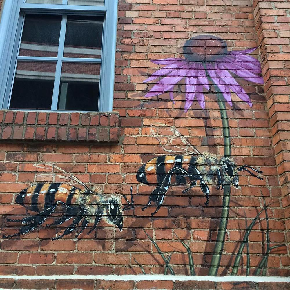 perierga.gr - Καλλιτέχνης ταξιδεύει στον κόσμο για να ζωγραφίσει 50.000 μέλισσες!