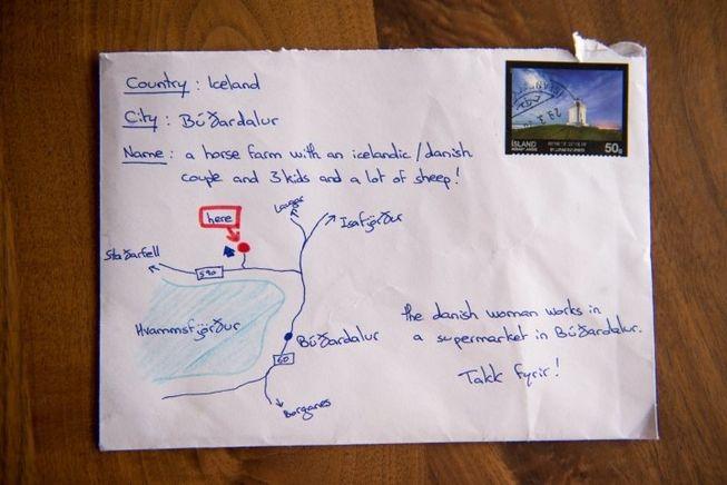 perierga.gr - Παράξενο γράμμα έχει αντί για διεύθυνση... χάρτη!