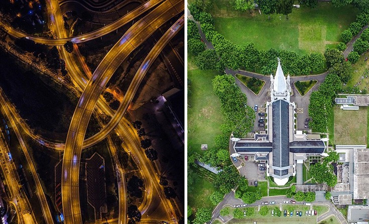 perierga.gr - Η υπέροχη Σιγκαπούρη από ψηλά!