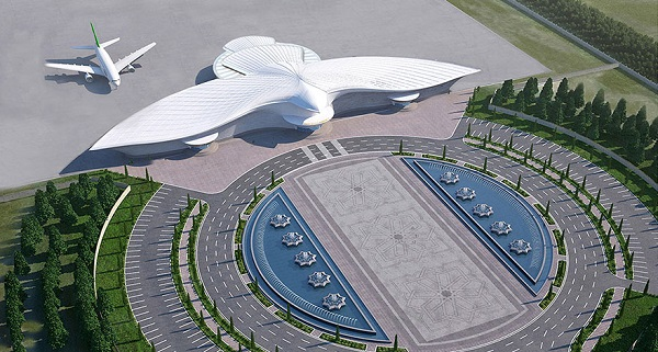 perierga.gr - Αεροδρόμιο σε σχήμα... γερακιού κοστίζει 2,3 δις δολάρια!