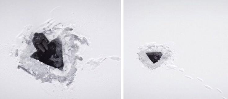 perierga.gr - Βουτώντας... κάτω από τον πάγο!