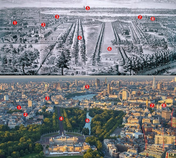 Πώς άλλαξε το Λονδίνο μέσα σε 300 χρόνια!