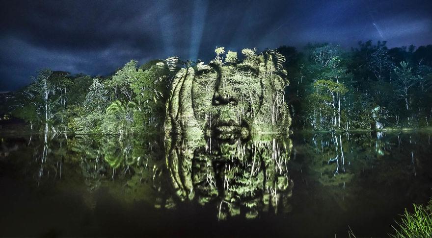 Εντυπωσιακό φώτο-γκράφιτι στον Αμαζόνιο!