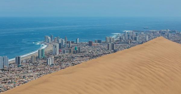 Αμμόλοφος 20.000 ετών προστατεύει πόλη από τους ανέμους!