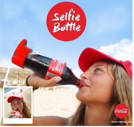 perierga.gr - Το νέο μπουκάλι της Coca-Cola βγάζει selfies!