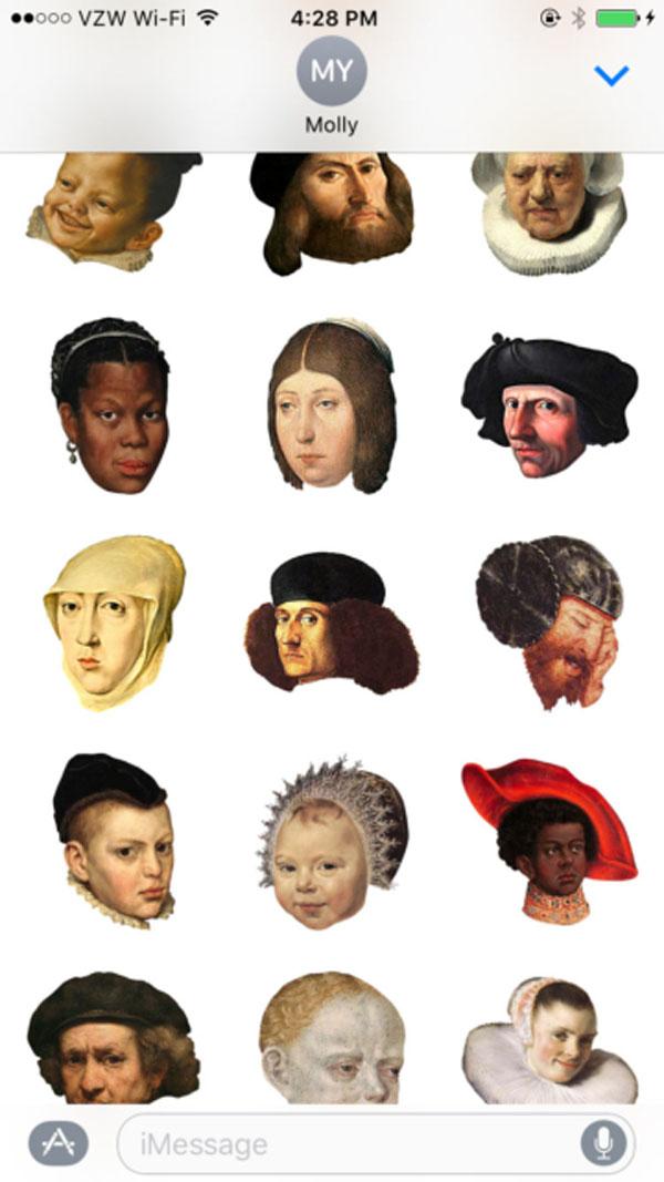 Perierga.gr-Σειρά emojis εμπνευσμένη από πίνακες μεγάλων ζωγράφων