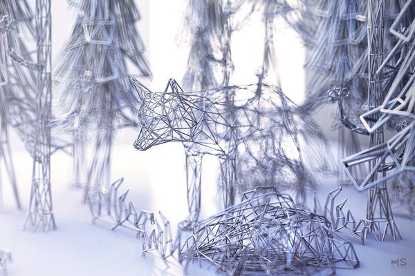 Perierga.gr-Εντυπωσιακά γλυπτά ζώων από σύρμα