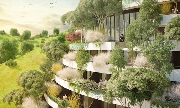 """perierga.gr - Απίθανος """"κάθετος"""" κήπος σε ξενοδοχείο!"""