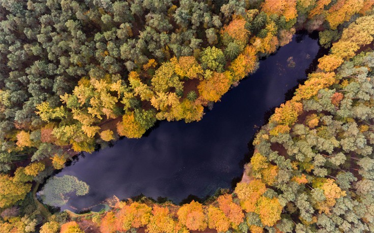 perierga.gr - Η φύση σε όλο το πολύχρωμο μεγαλείο της από ψηλά!