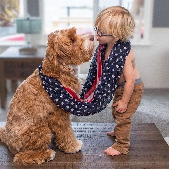 perierga.gr - Μοναδική φιλία αγοριού με σκύλο!