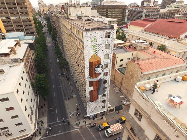 Perierga.gr-Εντυπωσιακό γκράφιτι σε 11όροφο κτίριο της Χιλής