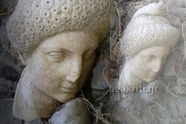 Perierga.gr-Η κακοκαιρία «ξέθαψε» αρχαιολογικό θησαυρό στην Κρήτη
