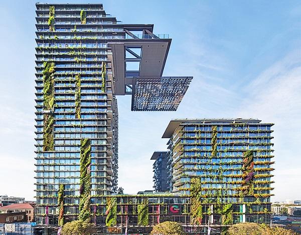 perierga.gr - Ο ψηλότερος κάθετος κήπος ζει και αναπνέει στο Σίδνεϊ!