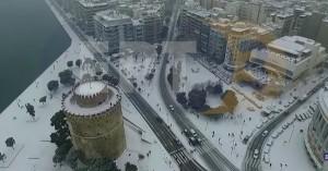 perierga.gr - H χιονισμένη Θεσσαλονίκη από ψηλά!