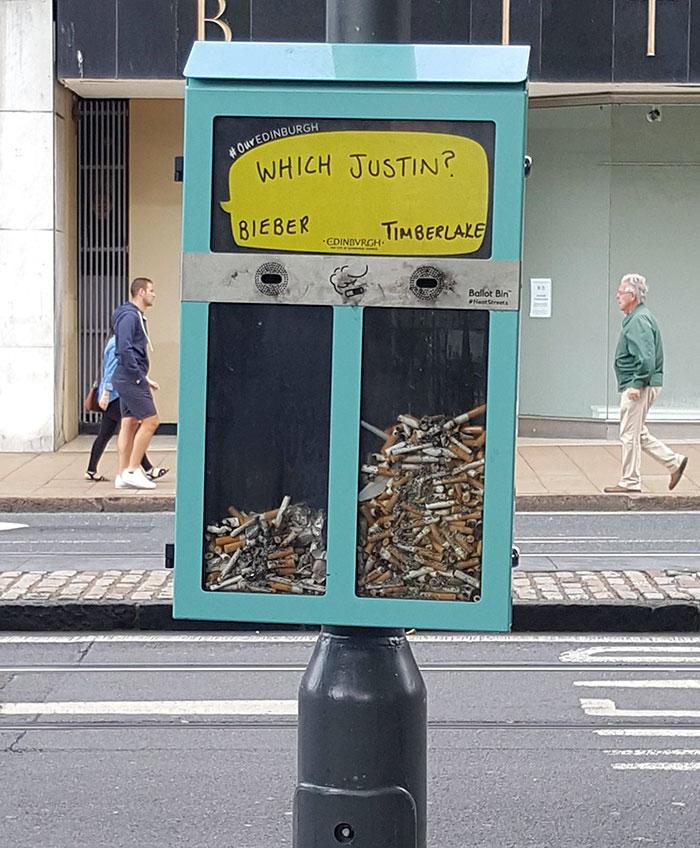 perierga.gr - Δημοψηφίσματα με την χρήση... αποτσίγαρων!