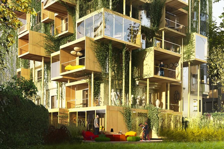 """perierga.gr - """"Πράσινοι"""" ξύλινοι κύβοι"""" βελτιώνουν την ενεργειακή απόδοση στα παλιά κτήρια του Παρισιού!"""