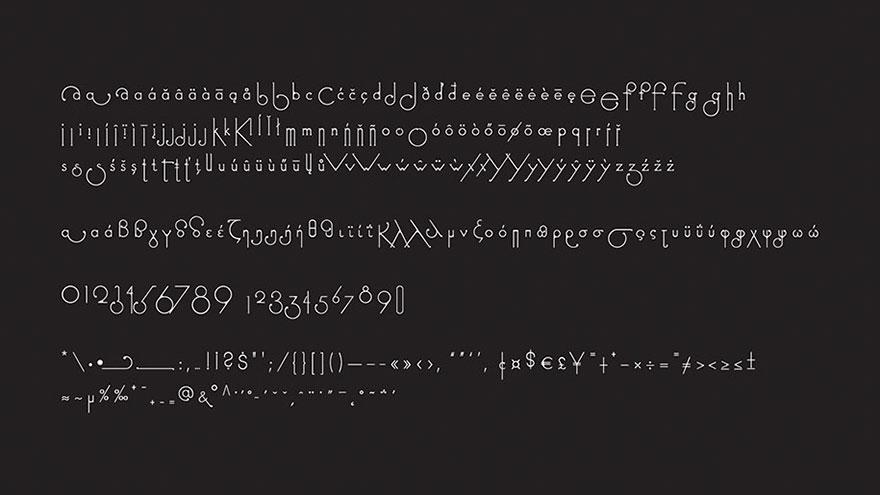 perierga.gr - Γραμματοσειρά αλλάζει σχήμα ανάλογα με την λέξη!