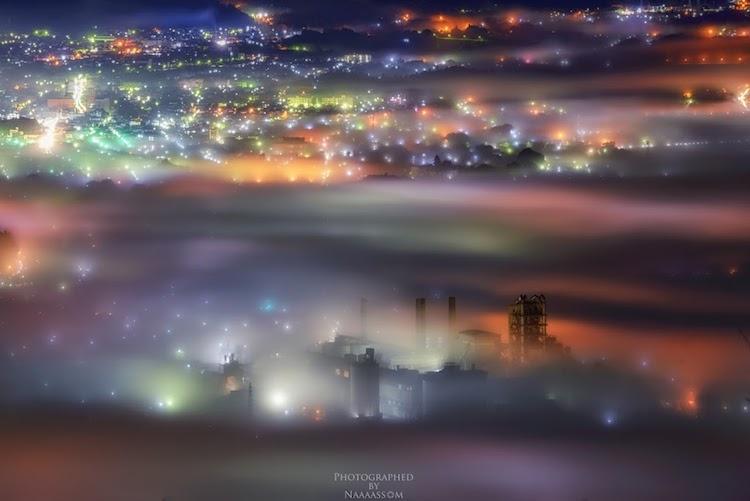 """perierga.gr - Πολύχρωμη """"θάλασσα νεφών"""" πάνω από το Τόκιο!"""