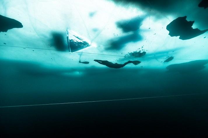 perierga.gr - Βουτιά με μια ανάσα κάτω από τον πάγο για 175 μέτρα!