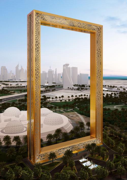 perierga.gr - Ουρανοξύστης στο Ντουμπάι, μοιάζει με τεράστια κορνίζα!